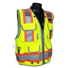 Radians Type R Class 2 Heavy Duty Surveyor Safety Vest, Yellow/Lime