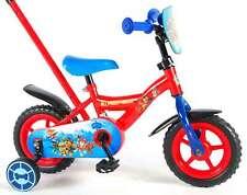 Kinderfahrrad Paw Patrol 10 Zoll Kinder Fahrrad mit Schiebestange und Stützräder