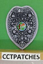 TEMPLE TERRACE, FLORIDA POLICE BADGE GREY SHOULDER PATCH FL