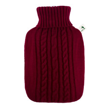 1.8 Litre Red Luxury Knitted Cover Rubberless Hot Water Bottle