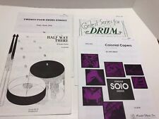 Lot of 4 Snare Drum Solos Intermediate Advanced Festival Percussion Pieces