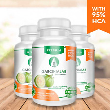 3 Pack 95% HCA Garcinia Cambogia 100 Pure Weight Loss Supplements GarciniaLab