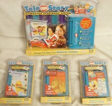TELESTORY CONSOLE SYSTEM w/ 2 DORA CARTRIDGES + 3 EXTRA STORY BOOKS NEW & SEALED
