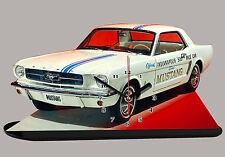 AUTO MINIATURA, FORD MUSTANG 1964 BIANCO-02, AUTO IN OROLOGIO MINIATURA