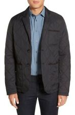 Vince Camuto Quilted Notch Lapel Jacket Black Mens Size XL New