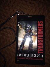 Transformers Botcon 2014 Universal Studios Fan Experience Badge Lanyard