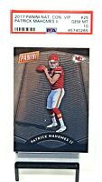 2017 National Convention VIP PATRICK MAHOMES Rookie Card PSA 10 GEM MINT Pop 35