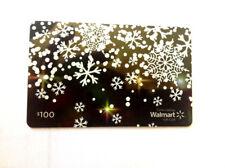 WALMART CHRISTMAS FLAKES DARK GREEN COLLECTIBLE GIFT CARD FD-49044