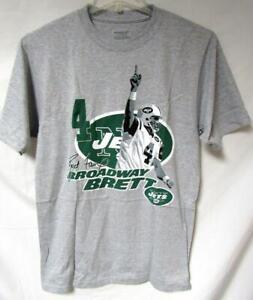 """New York Jets Mens S M L or 2XL Brett Favre """"Broadway Brett"""" T-shirt YZ 119"""