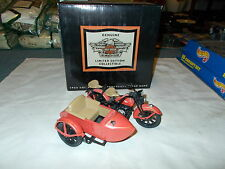 NEW OLD STOCK RED  Harley-Davidson 1933 Motorcycle/Sidecar Bank LIMITED EDITION