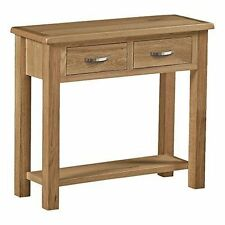 Roseland Furniture London Oak Light Lacquered Console Table Beige