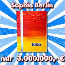 "Ƹ̵̡Ӝ̵̨̄Ʒ 60x80 cm WOW XL Gemälde ""Flowers""  abstrakt rot gelb bunt Acryl ✔"