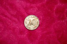 Malaysia 1968 20 Sen Coin