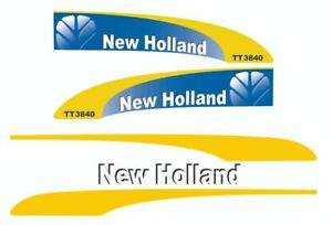 New Holland TT3840 Tractor Decals / Adhesives / Stickers ( Complete Set / Kit )