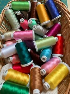 Madeira Rayon 40 Machine Embroidery Thread 1000m 60 assorted colours all new L2