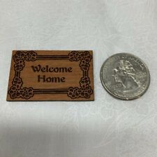 Miniature Dollhouse, 1:12 Scale, Welcome Home Sign, Porch, Door Decor