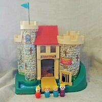 Vintage 1970's Fisher Price Play Family Castle #993 With Queen Prince Princess