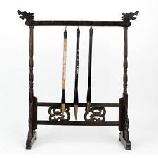 Wooden Chinese Calligraphy Brush Pen Holders Hanger Sumi Brush Rack 14 Hooks