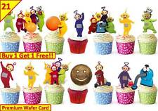 42 TELETUBBIES Birthday Party Cup Cake Edible Wafer Rice Toppers Stand up