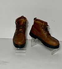 Wolverine moc toe leather ankle Boots mens us size 9.5 M brown lace up