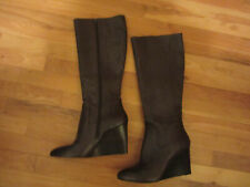 NEW WOMENS 9 NINE WEST 10 10M BROWN LEATHER BOOTS SHOES RIDING TALL BLOWOUT!!!
