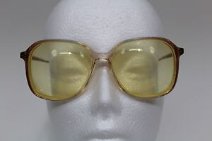 Vintage Women's Swank France COLLEEN Two Toned Clear and Tan Eyeglasses Plastic