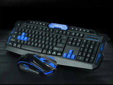 2.4 GHz Wireless ergonomica per gaming keyboard + 1600dpi 6 Pulsanti Mouse Senza Fili Set