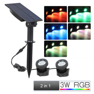 LED IP65 Spotlight Submersible RGB Pond Spot Lights For Underwater Pool Fountain