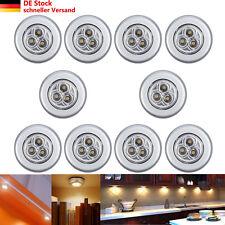 10x 3Leds Unterbauleuchte Touch Lampe Leuchte Batteriebetrieb für Küchen Schrank