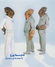 ERIK BAUERSFELD as Admiral Ackbar - Star Wars GENUINE AUTOGRAPH UACC (R12689)