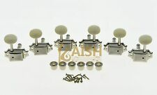 Nickel w/ Ivory Button 3L3R Vintage LP Guitar Tuners Tuning Keys for Les Paul