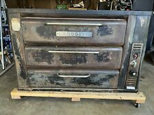 Blodgett 931 Natural Gas Double 2 Deck Pizza Oven With Spare Parts