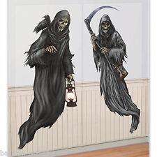 Scary Halloween Cemetery Scene Setter Add On Decorations - GRIM REAPER DEATH