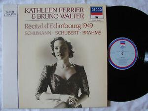 Kat. Ferrier  & Bruno Walter - récital Edimbourg 1949 - Schumann - Brahms - 2 LP