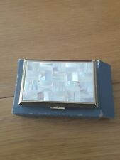 VINTAGE MOTHER OF PEARL MUSICAL UNUSED  POWDER COMPACT