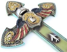Air Force Cross Angel Wings US Militaria Wall Hanging 14x8 1/2inch New