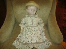 """28"""" Antique Oil Painted Rollinson Cloth Doll"""