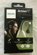 Philips SHQ3200 Action Fit, Flexible In Ear Headphones in White-New Damaged Box