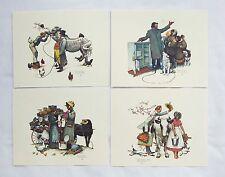 Vintage 1970's Norman Rockwell Traveling Salesman Embossed Print Set 242-132