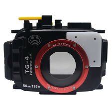 Mcoplus 60m/195ft Underwater Waterproof Camera Case for Olympus TG-4 TG-3