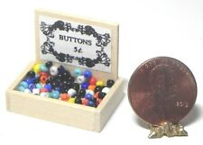 Dollhouse Miniature Box of Buttons Island Crafts Minis 1:12 Scale
