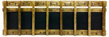 7 Day Organiser Blackboard Chalkboard Wooden Wall Hanging Hooks Name Holders