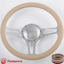"14"" Billet Steering Wheels Half Wrap Ford Fairlane Galaxie LTD Ranch w/ Horn"