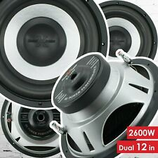 Pair of Soundxtreme 12 Inch 2600 Watt Car Audio Subwoofer with DVC Power (2 Sub)