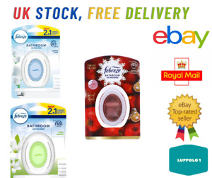 Febreze Bathroom Air Fresheners 3 x Assorted 45 Days 2in1 Eliminate and Prevent