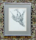 Original Listed Artist Joan Mitchell Blumenthal Graphite Drawing of Tree Signed