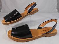 Bare Traps VIENNA Womens Sandals Size 6.5 M Patent Slingback Sandals Black