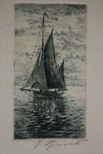 Originaldrucke (1900-1949) mit Marine- & Seefahrt-Motiv und Radierungs-Technik