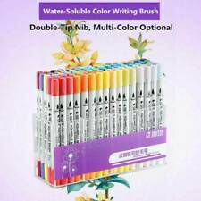 100 Colour Watercolour Brush Pens Set Dual Tips Soft Fine Art Markers Drawing-UK