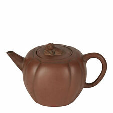 ANTIQUE CHINESE YIXING MELON SHAPED TEAPOT 18/19TH C.